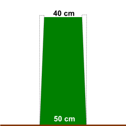 Trapez-Kontur für perfekt grüne Hecken